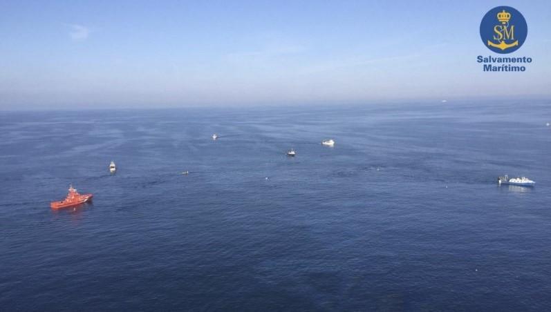 Vista aérea desde el helicóptero de salvamento