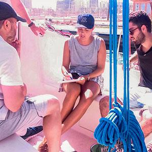 PER · Prácticas de navegación en el Port Olímpic · Escola Port Barcelona