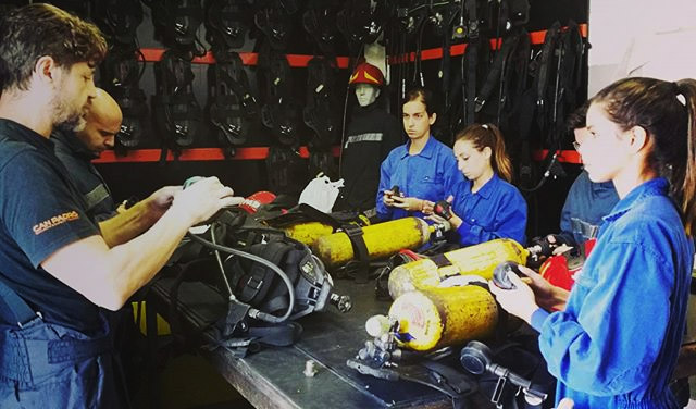 Advanced against fires -practices- FP of the MAR - Escola Port