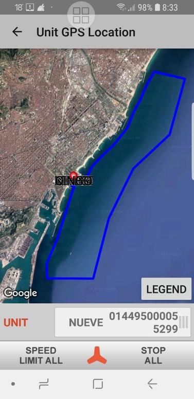 Zonas de navegación Jet Ski - Escola Port Barcelona