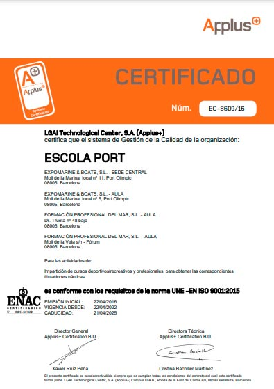 ISO_9001_applus Escola Port